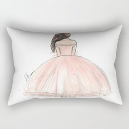 Little Fashionista - Peach Dress Rectangular Pillow