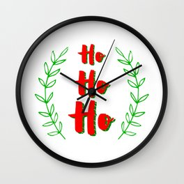 Ho ho ho! Merry Christmas Wall Clock