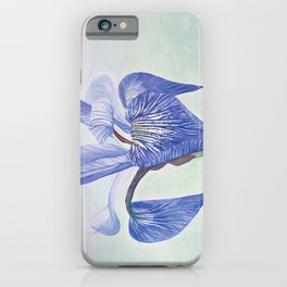 Iris Watercolor iPhone Case