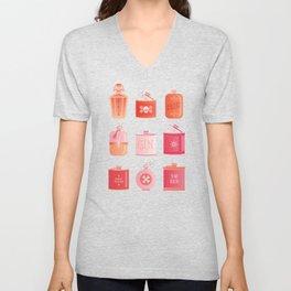 Flask Collection – Pink/Peach Ombré Palette Unisex V-Neck