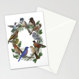 California Bird Wreath Stationery Cards