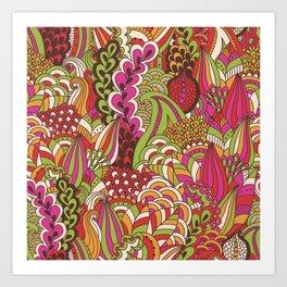 Paisly Pop Tangle #4 Art Print