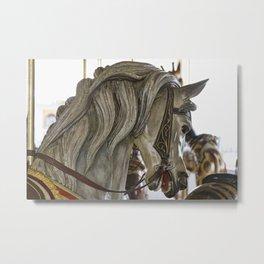 Carousel Pony Metal Print