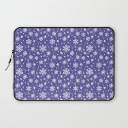 Purple Holiday Snowflake Pattern Laptop Sleeve