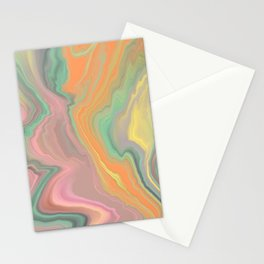 Colorful Marbled Mayhem Stationery Cards