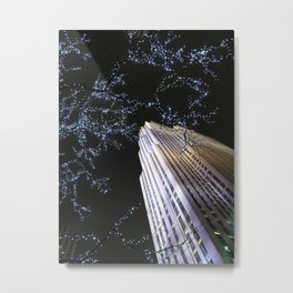 30 Rock at Night, NYC Metal Print