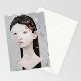 Japanese Black Blossom Stationery Cards