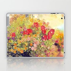 Colorful Flower Basket Painterly Abstract and Free Spirited Laptop & iPad Skin