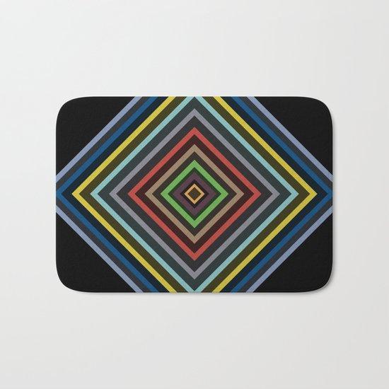 Colorful Geometric Pattern VI Bath Mat