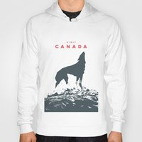 canada Hoodies featuring Visit Canada by ahutchabove