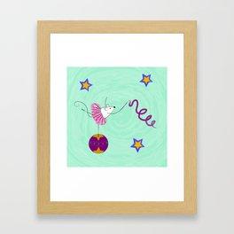 Circus Mouse - Ribbon Dancer Framed Art Print