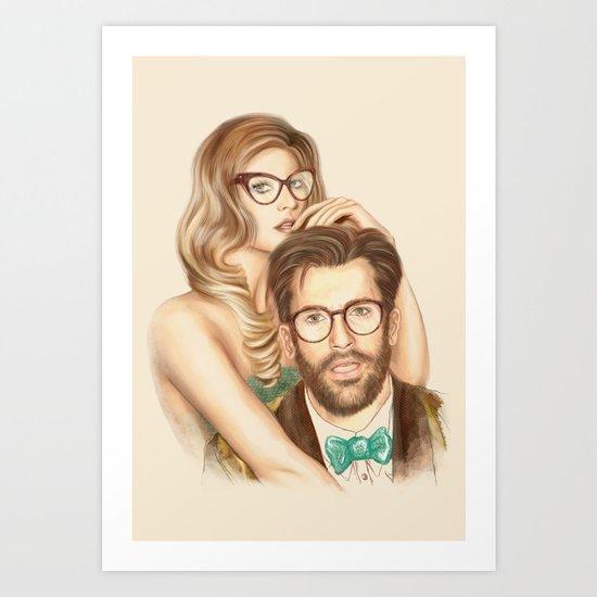 I love your Glasses Art Print