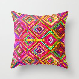 A trip to India in Magenta Throw Pillow