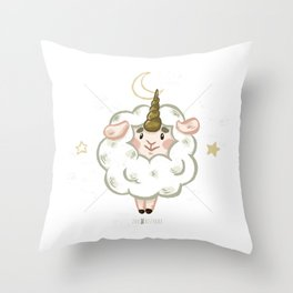 Zoo Bizarre I Sheepicorn Throw Pillow