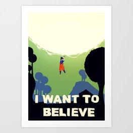 Believe in Goku Art Print