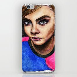 Cara Delevingne:) iPhone Skin