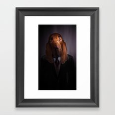 Good-Night, Sir Hound Framed Art Print