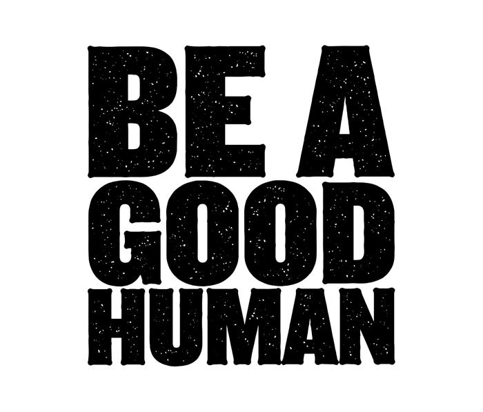 Be A Good Human Metal Travel Mug