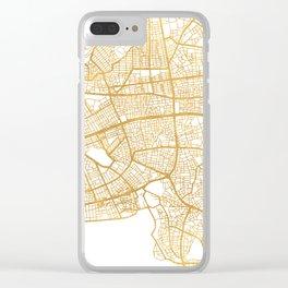 ANTALYA TURKEY CITY STREET MAP ART Clear iPhone Case