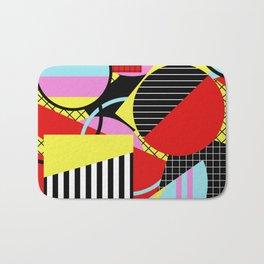 Retro Geometry - Geometric, abstract, bold design Bath Mat