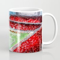ohio state Mugs featuring Ohio State Buckeyes by Emily Kenney