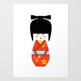 Cherry Doll Art Print
