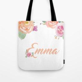 Emma Watercolour Name Tote Bag