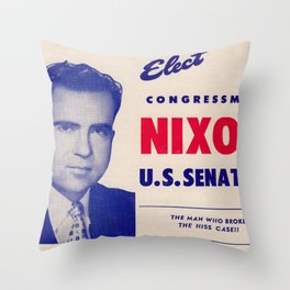 Vintage poster - Richard Nixon for Senate Throw Pillow