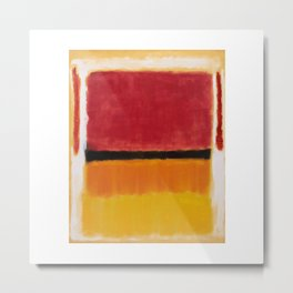 1949 Untitled (Violet, Black, Orange, Yellow on White and Red) by Mark Rothko Metal Print