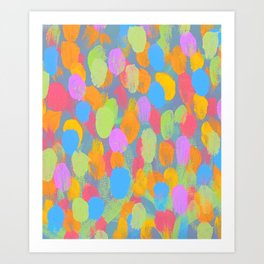 Dancing Dabs of Color! Art Print
