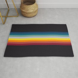 Naoaki - Classic Rainbow Retro Stripes Rug