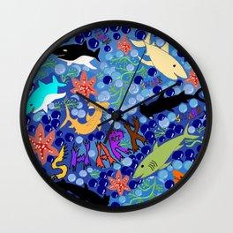 Happy Sharks Wall Clock