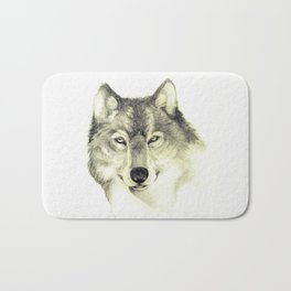 The eyes of Wolf Bath Mat