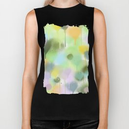Dripping paint abstract in pastel colors Biker Tank
