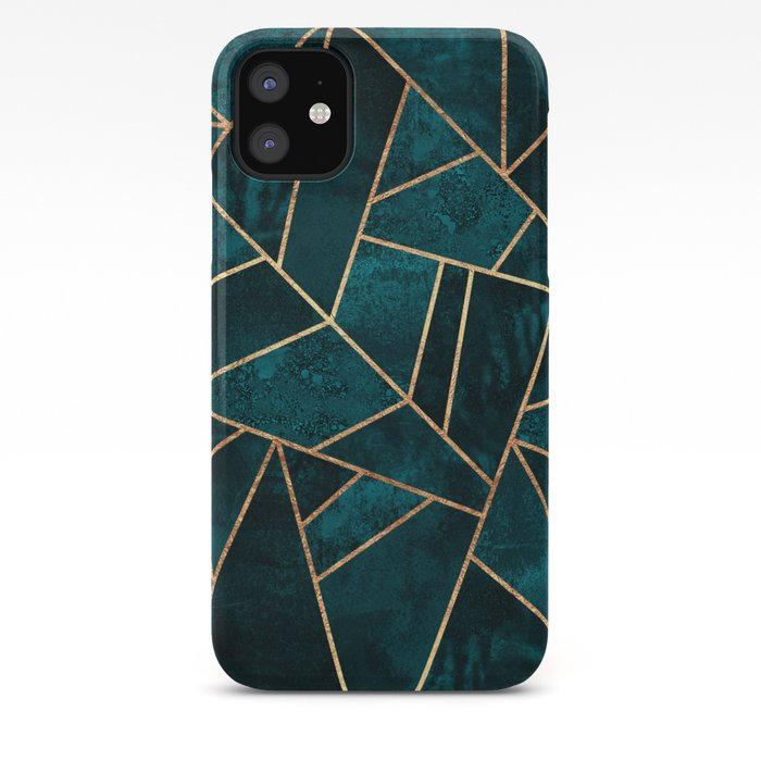 Deep Teal Stone iPhone Case