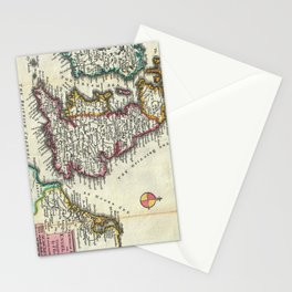 Vintage Map of England (1747) Stationery Cards