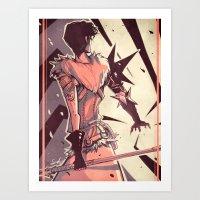 dragon age Art Prints featuring Dragon Age: Marian Hawke by Sara Cuervo