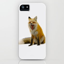 Yawning Fox iPhone Case