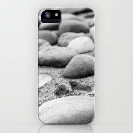 Black and White Stones iPhone Case