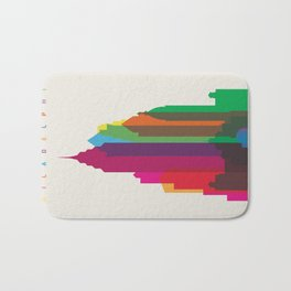 Shapes of Philadelphia accurate to scale Bath Mat