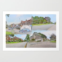 19/ Mewsbrook Park & Broadmark Lane Compilation by Duncan Thrussell Art Print