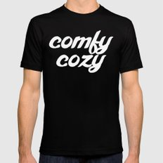 comfy cozy Black MEDIUM Mens Fitted Tee