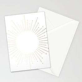 Simply Sunburst in White Gold Sands on White Stationery Cards