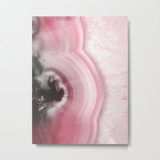 Romantic Pink Agate Metal Print