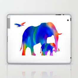 Elephant mom and baby Laptop & iPad Skin