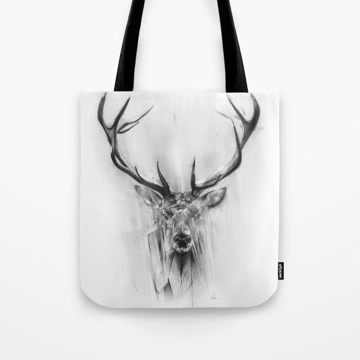 Red Deer Tote Bag