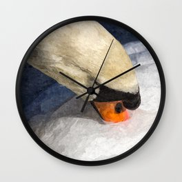 Peaceful Swan Art Wall Clock