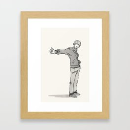 Thumbing Framed Art Print