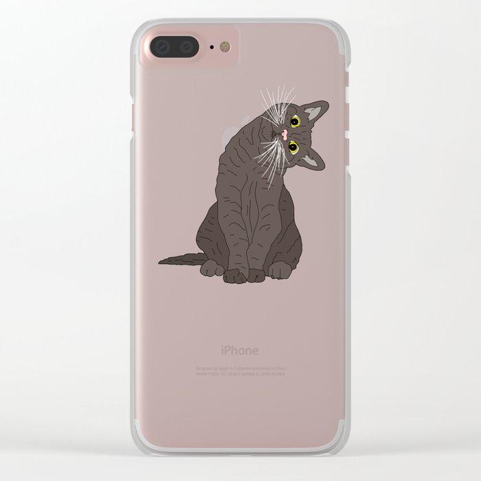 Wanderlust Cat Clear iPhone Case