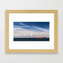 Take Red Ship to Your Love Framed Art Print